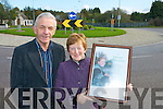 Gillian O'Sullivan proud parents Pat and Alive at Lissivgeen roundabout which will be named after their daughter............