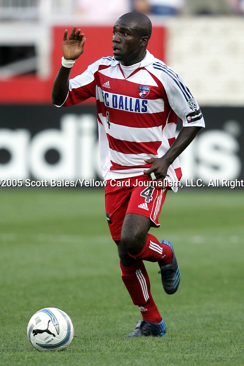 16 July 2005: Dallas's Chris Gbandi. The New England Revolution defeated FC Dallas 3-2 at Gillette Stadium in Foxboro, Massachusetts in a Major League Soccer regular season match.