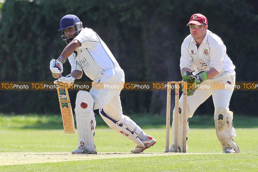 Upminster CC (batting) vs Hadleigh & Thundersley CC - Essex Cricket League - 18/08/12 - MANDATORY CREDIT: Gavin Ellis/TGSPHOTO - Self billing applies where appropriate - 0845 094 6026 - contact@tgsphoto.co.uk - NO UNPAID USE.
