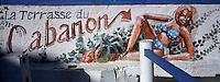 Europe/France/13/Bouches-du-Rhône/ Marseille: Port des Goudes - Peinture murale d'un cabanon