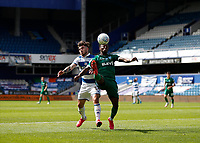 11th July 2020; The Kiyan Prince Foundation Stadium, London, England; English Championship Football, Queen Park Rangers versus Sheffield Wednesday; Ryan Manning of Queens Park Rangers challenges Moses Odubajo of Sheffield Wednesday