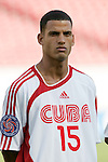 13 March 2008: Juan Carlos Martinez (CUB) (15). The Honduras U-23 Men's National Team defeated the Cuba U-23 Men's National Team 2-0 at Raymond James Stadium in Tampa, FL in a Group A game during the 2008 CONCACAF's Men's Olympic Qualifying Tournament.