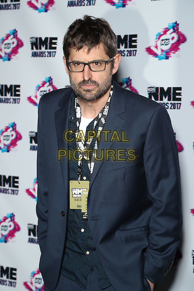 Louis Theroux<br /> The VO5 NME Awards 2017 at the O2 Academy, Brixton, London on February 15th 2017<br /> CAP/GOL<br /> &copy;GOL/Capital Pictures