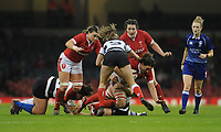 No way through for Wales Siwan Lillicrap<br /> <br /> Photographer Ian Cook/CameraSport<br /> <br /> 2019 Autumn Internationals - Wales Women v Barbarians Women - Saturday 30th November 2019 - Principality Stadium - Cardifff<br /> <br /> World Copyright © 2019 CameraSport. All rights reserved. 43 Linden Ave. Countesthorpe. Leicester. England. LE8 5PG - Tel: +44 (0) 116 277 4147 - admin@camerasport.com - www.camerasport.com