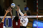 DURHAM, NC - SEPTEMBER 01: Northwestern's Nia Robinson. The Northwestern University Wildcats played the University of South Carolina Gamecocks on September 1, 2017 at Cameron Indoor Stadium in Durham, NC in a Division I women's college volleyball match. Northwestern won 3-1 (13-25, 25-18, 25-18, 25-19).