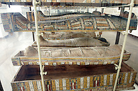 Mummie nel Museo Egizio di Torino.<br /> Mummies in the Egyptian Museum of Turin.<br /> UPDATE IMAGES PRESS/Riccardo De Luca