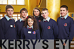 Students from Causeway Comprehensive School Mike Sheehy, Danny O'Shea, Katie Falvey, Oscar Brophy, Patrick Dineen and Tommy Allen,  pictured at Ceiliu?radh nO?g at the Brandon hotel on Thursday..