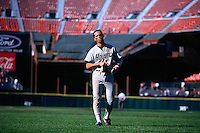 SAN FRANCISCO, CA - Craig Biggio of the Houston Astros walks off the field during a game against the San Francisco Giants at Candlestick Park in San Francisco, California in 1995. Photo by Brad Mangin