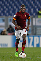 AS Roma's Radja Nainggolan   during the Champions League Group E soccer match between As Roma and Manchester City  at the Olympic Stadium in Rome December 10 , 2014.