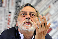 Roma 16 Aprile 2010.Sede Stampa Estera.Conferenza Stampa di Emergency con Gino e Cecilia Strada presidente della ONG.Rome April 16, 2010..Press Conference for Emergency with Gino Strada and Cecilia Strda president of the NGO