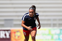 Cary, North Carolina  - Saturday August 19, 2017: Mallory Pugh prior to a regular season National Women's Soccer League (NWSL) match between the North Carolina Courage and the Washington Spirit at Sahlen's Stadium at WakeMed Soccer Park. North Carolina won the game 2-0.