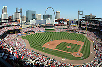 ST LOUIS - APRIL  05:  A general view of the architecture of the new Busch Stadium in St. Louis, Missouri on April 5, 2008.   (Photo by Chris Bernacchi/MLB Photos via Getty Images)