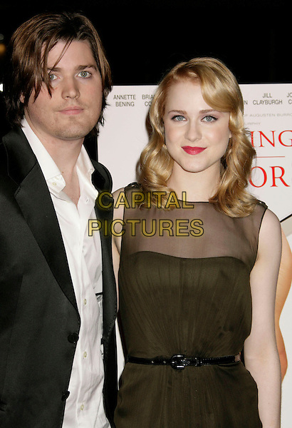 "IRA WOOD & EVAN RACHEL WOOD.""Running with Scissors"" World Premiere held at the Academy of Motion Pictures Arts and Sciences, Beverly Hills, California, USA..October 10th, 2006.Ref: ADM/RE.half length green sheer brother sister siblings family dress.www.capitalpictures.com.sales@capitalpictures.com.©Russ Elliot/AdMedia/Capital Pictures."