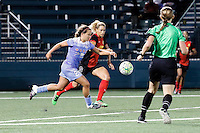 Rochester, NY - Friday July 01, 2016: Danielle Colaprico, Lynn Williams during a regular season National Women's Soccer League (NWSL) match between the Western New York Flash and the Chicago Red Stars at Rochester Rhinos Stadium.