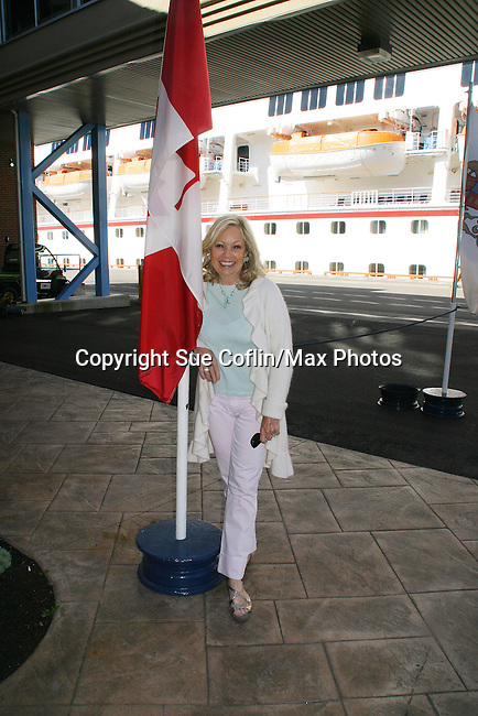 Guiding Light's Tina Sloan arrives in Saint John New Brunswick to join the ship Glory and to see all the GL fans - takes time out to see the city - Day 2 - August 1, 2010 - So Long Springfield at Sea - A day in port in Saint John, New Brunswick, Canada from the Carnival's Glory (Photos by Sue Coflin/Max Photos)