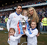 Neil Alexander and family saying farewell with the SFL Division 3 trophy