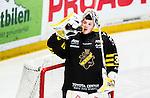 Stockholm 2014-12-01 Ishockey Hockeyallsvenskan AIK - S&ouml;dert&auml;lje SK :  <br /> AIK:s m&aring;lvakt Robin Rahm dricker vatten under under matchen mellan AIK och S&ouml;dert&auml;lje SK <br /> (Foto: Kenta J&ouml;nsson) Nyckelord:  AIK Gnaget Hockeyallsvenskan Allsvenskan Hovet Johanneshov Isstadion S&ouml;dert&auml;lje SSK portr&auml;tt portrait