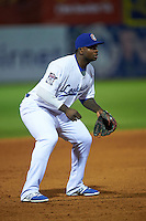 Chattanooga Lookouts third baseman Miguel Sano (24) during a game against the Jacksonville Suns on April 30, 2015 at AT&T Field in Chattanooga, Tennessee.  Jacksonville defeated Chattanooga 6-4.  (Mike Janes/Four Seam Images)