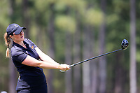 Olivia Mehaffey (NIR) on the 1st during the second round of the Augusta National Womans Amateur 2019, Champions Retreat, Augusta, Georgia, USA. 04/04/2019.<br /> Picture Fran Caffrey / Golffile.ie<br /> <br /> All photo usage must carry mandatory copyright credit (&copy; Golffile | Fran Caffrey)