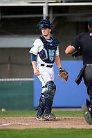 Princeton Rays catcher Jordyn Muffley (2) during the second game of a doubleheader against the Greeneville Reds on July 25, 2018 at Hunnicutt Field in Princeton, West Virginia.  Greeneville defeated Princeton 8-7.  (Mike Janes/Four Seam Images)