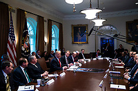 U.S. President Donald Trump speaks during a cabinet meeting in the Cabinet Room of the White House, on Wednesday, Jan. 2, 2019 in Washington, D.C. Photo Credit: Al Drago/CNP/AdMedia