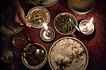 Traditional Dinner been served in the main restaurant in Mawlynnong.<br />