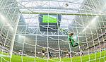 Solna 2015-08-10 Fotboll Allsvenskan AIK - Djurg&aring;rdens IF :  <br /> AIK:s m&aring;lvakt Patrik Carlgren r&auml;ddar ett skott &ouml;ver ribban under matchen mellan AIK och Djurg&aring;rdens IF <br /> (Foto: Kenta J&ouml;nsson) Nyckelord:  AIK Gnaget Friends Arena Allsvenskan Djurg&aring;rden DIF