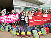 Child Refugee Protest outside Lunar House Croydon, Surrey, Great Britain <br /> <br /> 6th November 2016 <br /> <br /> <br /> Citizens UK volunteers, community and faith leaders stage an action outside the Home Office's Lunar House in Croydon calling for transfers of unaccompanied minors from France to the UK to resume. All transfers of refugee children from Calais to the UK have been cancelled for over a week now. Just 15% of the unaccompanied children in Calais at the time of the camp's demolition have so far been transferred to the UK with 1600 children now dispersed across France in temporary shelters.<br />   <br /> Citizens UK estimates hundreds of the children who were previously in Calais have a legal right to sanctuary in the UK under the Dublin and Dubs routes, yet the Government confirmed late on Friday that no children would be transferred again over the weekend, after over a week of delays and last minute cancellations.<br />  care of their own life since the demolition, 75% have showed an alarming deterioration in mental health and 90% have reported increased anxiety.<br /> <br /> <br /> Photograph by Elliott Franks <br /> Image licensed to Elliott Franks Photography Services