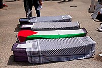 Die-In Protest for the Palestinians Chicago Illinois 5-31-18