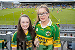 Shauna Moynihan and Katelyn Barry (both from Killarney) enjoying the atmosphere at the Munster minor and senior final, held at Fitzgerald Stadium, Killarney on Sunday.