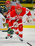 9 February 2008: Boston University Terriers' forward Holly Lorms, a Freshman from Brookfield, Wis., in action against the University of Vermont Catamounts at Gutterson Fieldhouse in Burlington, Vermont. The Terriers shut out the Catamounts 2-0 in the Hockey East matchup...Mandatory Photo Credit: Ed Wolfstein Photo