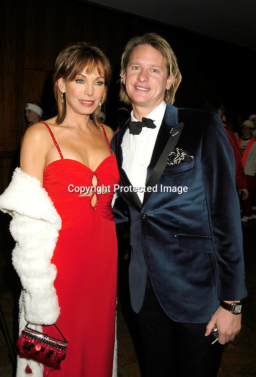 Lesley-Anne Down and  Carson Kressley                                  ..at The 32nd Annual International Emmy Awards on ..November 22, 2004 at the New York HIlton. ..Photo by Robin Platzer, Twin Images