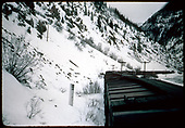 Freight train at MP 494? In Animas Canyon.<br /> D&amp;RGW  MP 494 ?,