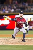 Scranton/Wilkes-Barre RailRiders relief pitcher Matt Daley (31) in action against the Charlotte Knights at BB&T Ballpark on July 17, 2014 in Charlotte, North Carolina.  The Knights defeated the RailRiders 9-5.  (Brian Westerholt/Four Seam Images)