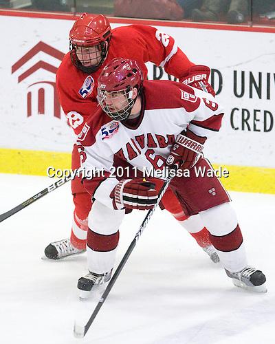 Dan Nicholls (Cornell - 29), Ryan Grimshaw (Harvard - 6) - The visiting Cornell University Big Red defeated the Harvard University Crimson 2-1 on Saturday, January 29, 2011, at Bright Hockey Center in Cambridge, Massachusetts.