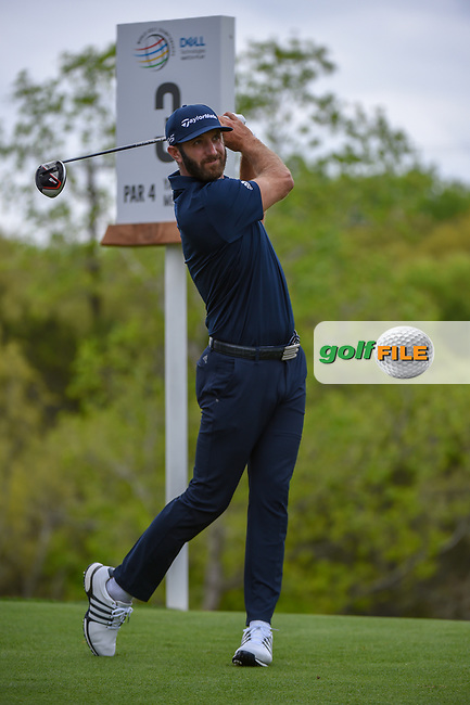 Dustin Johnson (USA) watches his tee shot on 3 during day 3 of the WGC Dell Match Play, at the Austin Country Club, Austin, Texas, USA. 3/29/2019.<br /> Picture: Golffile | Ken Murray<br /> <br /> <br /> All photo usage must carry mandatory copyright credit (© Golffile | Ken Murray)