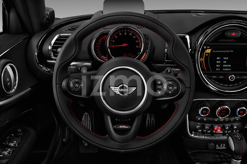 Car pictures of steering wheel view of a 2019 MINI Clubman John-Cooper-Works-ALL4 5 Door Wagon Steering Wheel