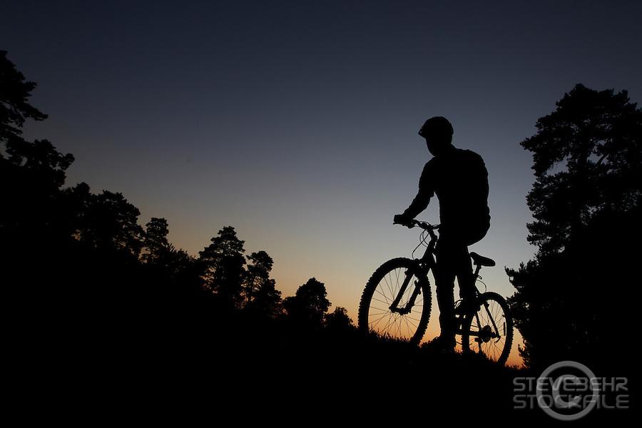 Sam Behr sunset silhouette , Surrey September 2011 pic copyright Steve Behr / Stockfile