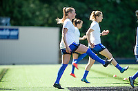 Seattle, WA - Sunday, May 1, 2016:  Seattle Reign FC midfielder Lindsay Elston (6) prior to a National Women's Soccer League (NWSL) match at Memorial Stadium. Seattle won 1-0.