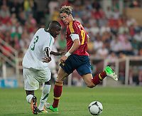 07.09.2012 Pontevedra, Spain. Friendly match between teams from Saudi Arabia vs Spain (4-0). Pasarón played at the stadium. The photo shows