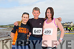 Ann Kelleher, Tommy Horan and Michelle Greaney at the Ballyheigue 10k run or half marathon on Saturday