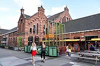 Nederland Amsterdam  -  Augustus 2018. Brouwerij Troost bij de Westergasfabriek.   Foto Berlinda van Dam / Hollandse Hoogte