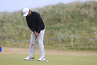Erik Van Rooyen (RSA) putts on the 1st green during Saturday's Round 3 of the 2018 Dubai Duty Free Irish Open, held at Ballyliffin Golf Club, Ireland. 7th July 2018.<br /> Picture: Eoin Clarke | Golffile<br /> <br /> <br /> All photos usage must carry mandatory copyright credit (&copy; Golffile | Eoin Clarke)