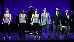 """Ivy Austin, Housso Semon, Debbie Gravitte, Hugh Panaro, Andrew Fitch and Hal Shane during the curtain call bows for """"They're Playing Our Song"""" Concert Benefit for The Actors Fund at the Music Box Theatre on February 11, 2019 in New York City."""
