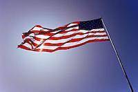 stars and stripes in Washington DC, USA