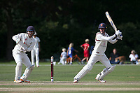 Will Buttleman hits 4 runs for Brentwood during Brentwood CC vs Wanstead and Snaresbrook CC, Essex Cricket League Cricket at The Old County Ground on 12th September 2020
