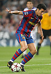 FC Barcelona's Pedro Rodriguez during the UEFA Champions League match.September 29 2009. (ALTERPHOTOS/Acero).
