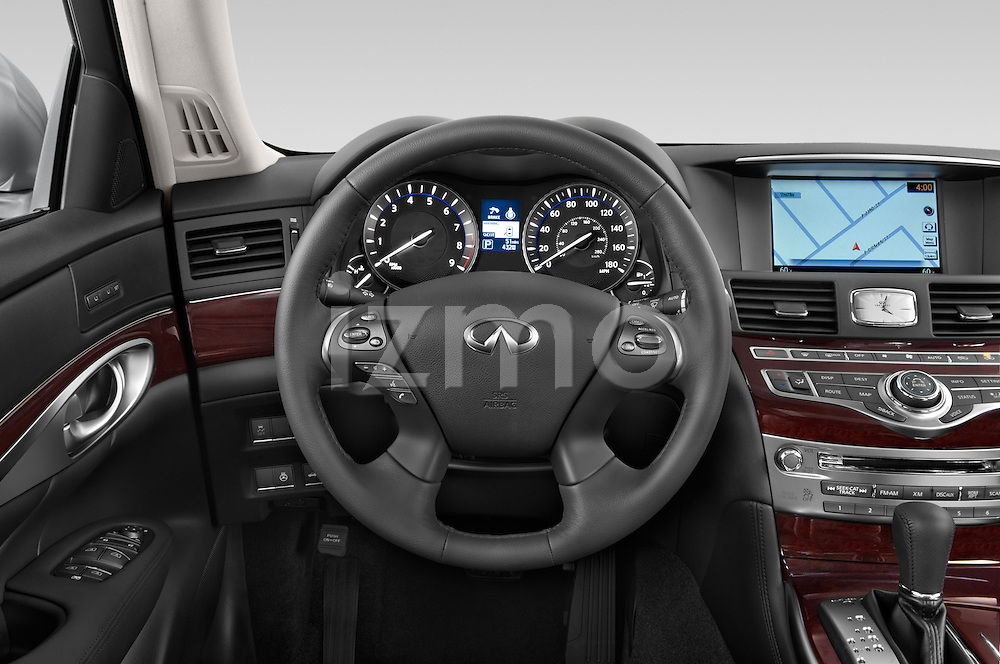 Car pictures of steering wheel view of a 2015 Infiniti Q70 3.7 L 4 Door Sedan Steering Wheel