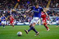 1st February 2020; St Andrews, Birmingham, Midlands, England; English Championship Football, Birmingham City versus Nottingham Forest; Lukas Jutkiewicz of Birmingham City hits a low hard cross into the box