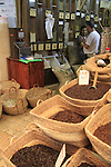 Israel, the market of Old Acco, a coffee store